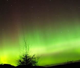 The Northern Lights in Ross shire