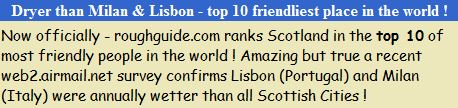Dryer Than Milan and Lisbon - top 10 friendliest place in the world !