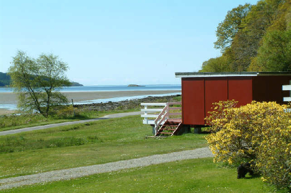 West Coast Lodges Scotland | Remote Seaside Location West Argyll, Sandy Beach and Free Fishing Sleeps 4