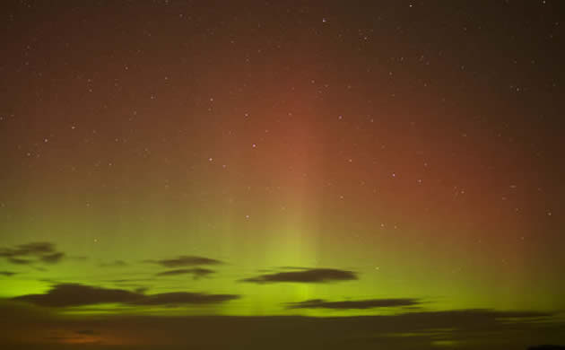 The Northern Lights over Scotland