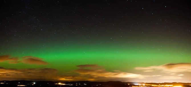 The Northern Lights in Scotland 2013