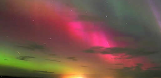 The Northern Lights over the Isle of Skye