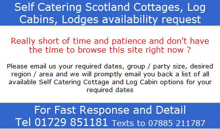 Self Catering Scotland Cottages Lodges Availability
