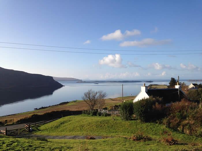Loch Bay Waternish Cottage Sea Views Log Fire